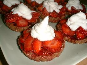 Tartelette croustillante aux fraises