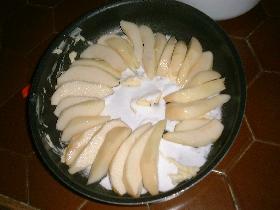 placer les tranches de poires