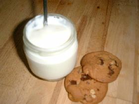 vous obtenez un yaourt onctueux. Si vous voulez un yaourt plus ferme, ajouter une càs de lait en poudre. (pour info, le yaourt que nous avons utilisé était un yaourt la laitière bio.Le lait était bio également)