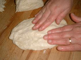 Diviser ma pâte en 4 et former des ovales