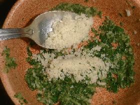 ajouter le parmesan
