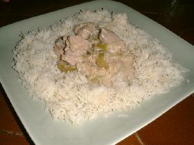 servir accompagné d'un riz basmati