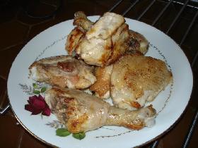 retirer les morceaux de poulet