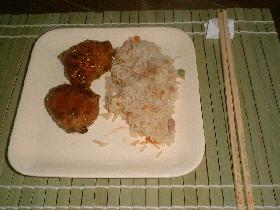 Servir avec un riz cantonais