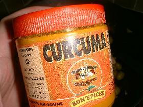 saupoudrer de curcuma <p>ajouter 20cl d'eau
