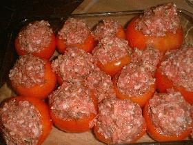 placer les tomates dans le plat de cuisson